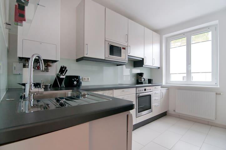 Vollausgestattete Küche in den ruhigen Innenhof