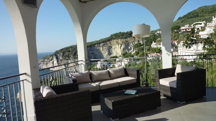 Overview exclusive seaside villa