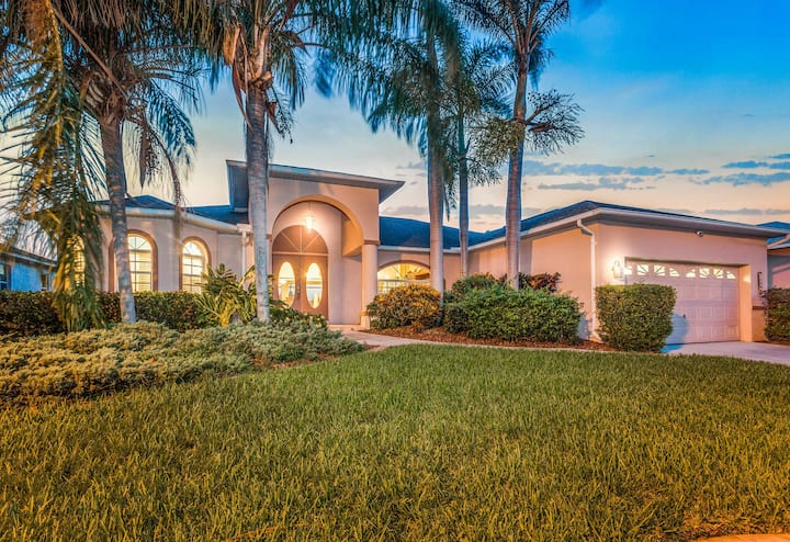 Florida waterfront home w/ private pool - short drive to beach!