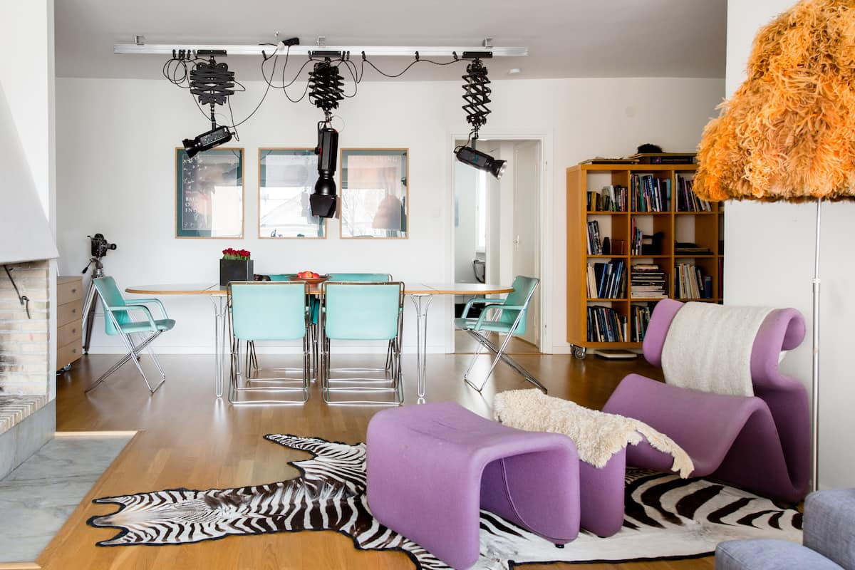 Quirky Ornaments and Mint Green Accents at an Arty Hideaway