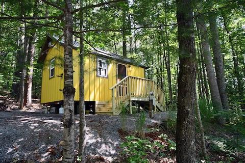 Honeysuckle Tiny Home at Bleu Canoe Campground