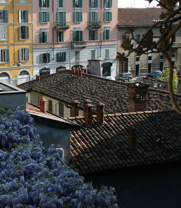 View from the little terrace overlooking the Naviglio (2)