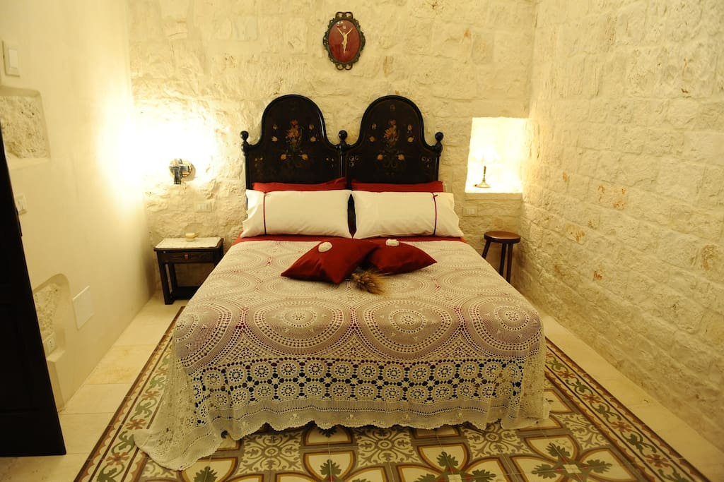 La camera da letto della Suite il Limone