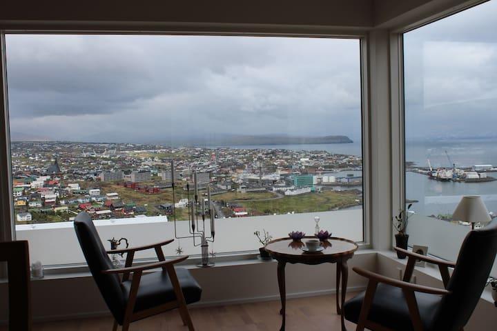 Panoramaview over Torshavn. - Tórshavn - Apartemen