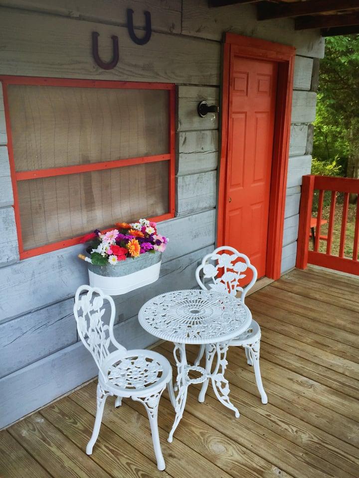 Antique Log Tent Cabin #1