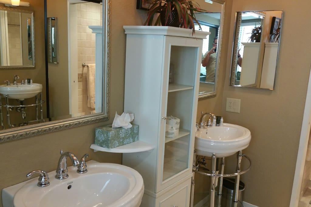 Master bath with twin sinks