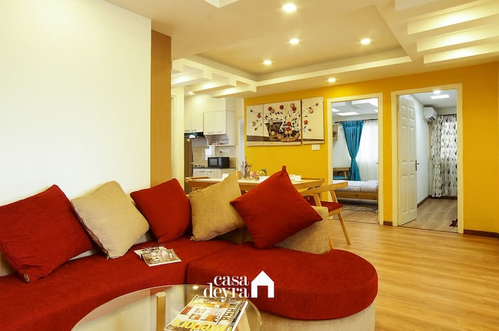 Living area, Dining area, Bedrooms and Kitchen area...