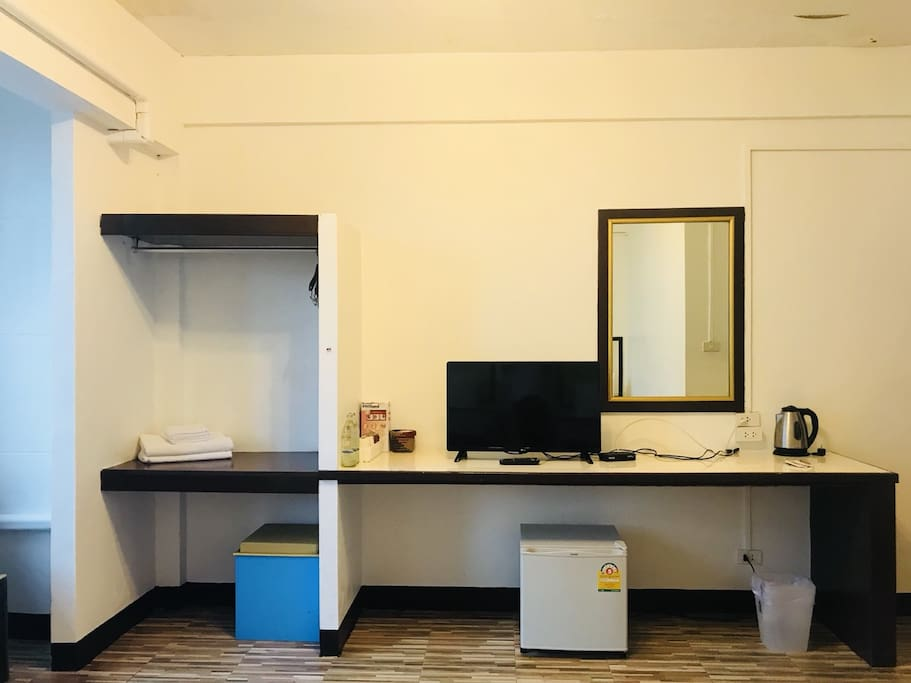 Full facility in your room :) - Cable TV - Free Wifi - Hot water  - Mini refrigerator - Mini wardrobe