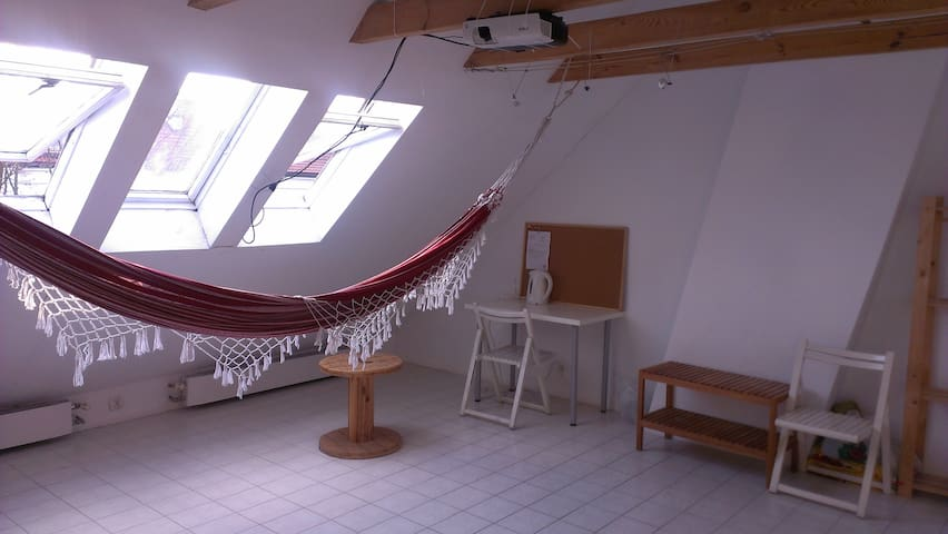 Klimatyczne studio z hamakiem blisko centrum - Gdynia - Apartament
