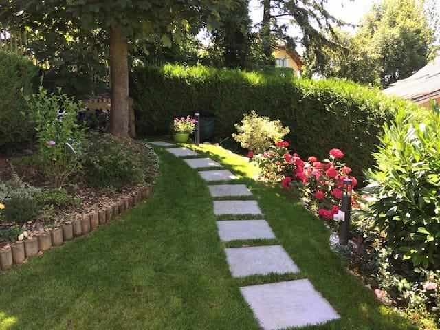Chambre duplex entrée et jardin privés - vue lac - Blonay - House