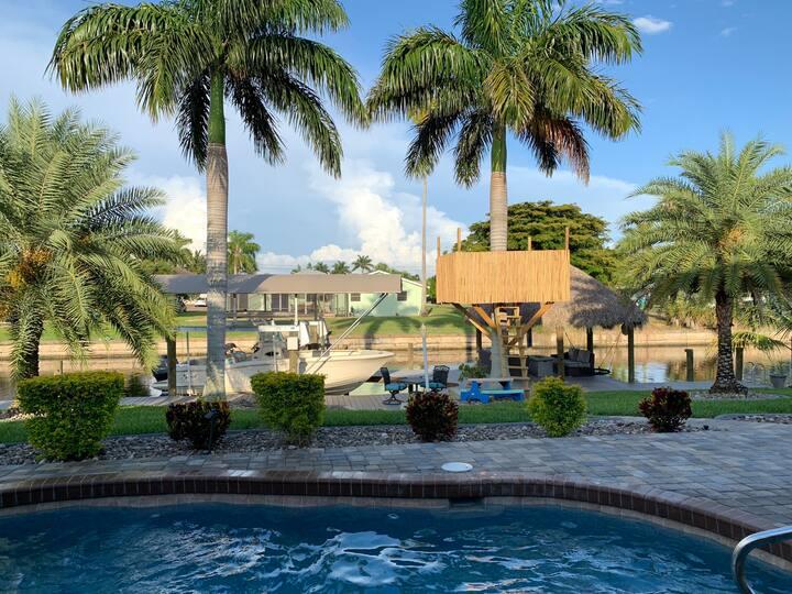 Palm Tree Lookout Paradise Resort Style Backyard