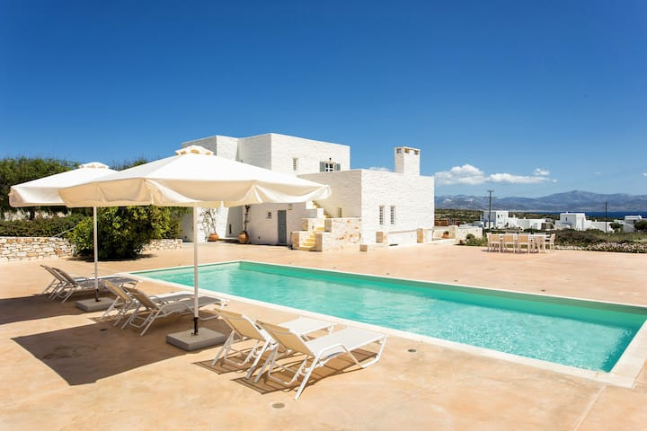 Villa Blueberry with private pool close to Naoussa