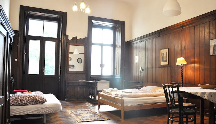 Welcome to baroque gem in the centre of Prague, full of history, original furniture and pictures. Up to 22 guests can be accommodate in four apartments with special spirit and comfortable in the same time. Special bonus is large private terrace.
