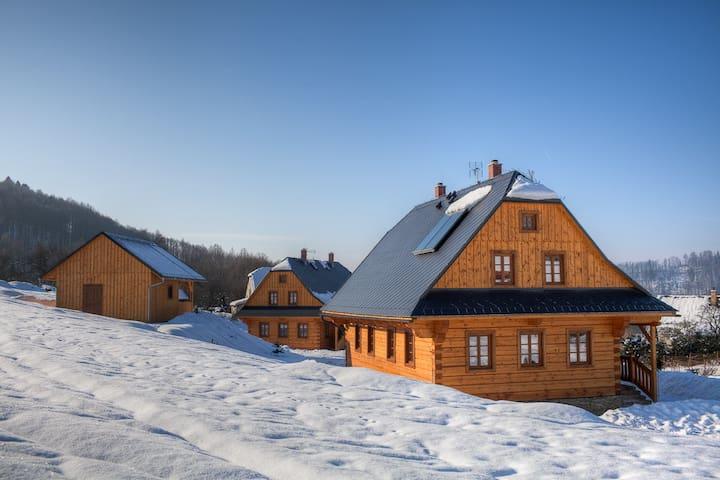 Cozy log cabins in the Jeseníky mountains - Loučná nad Desnou - Casa de campo