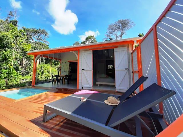 Cottages piscine privée à 900m de Grande Anse