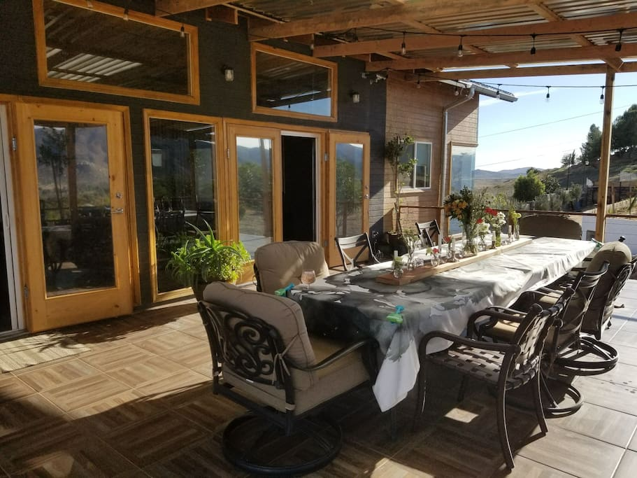 large patio is great for enjoying a cup of coffee or a glass of wine