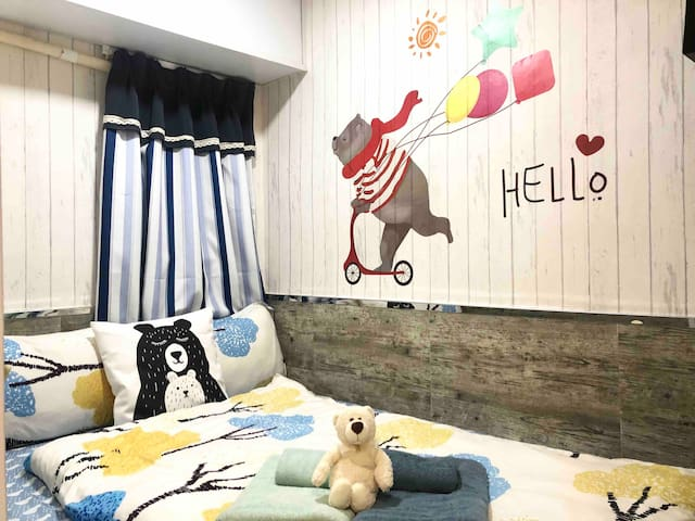 #7 Cozy Teddy Double Room in Tsim Sha Tsui