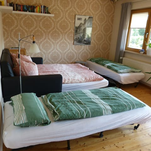 So sieht es aus wenn alle Betten ausgezogen sind