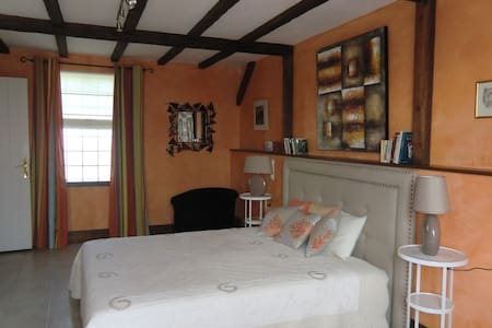 Chambre Mandarine pour 3 personnes - Saint-Lubin-en-Vergonnois - Bed & Breakfast