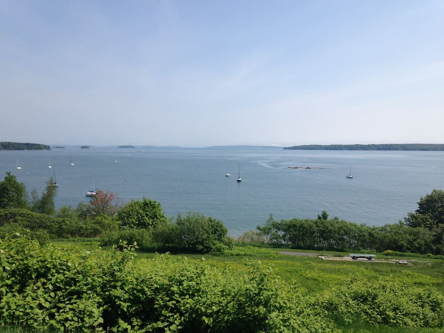 Views of Casco Bay from the Eastern Promenade