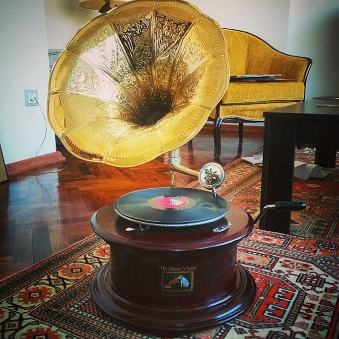 My favorite object in the house: an antique His Master's Voice gramaphone