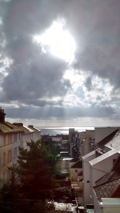 Lots of sea and sky from your window!