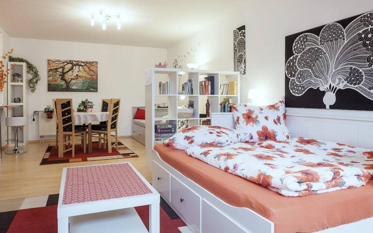 Nice decoration and well equipped, wifi fast. Comfortable bed. (Christophe)