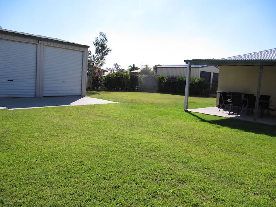 Large secure rear grounds and shed