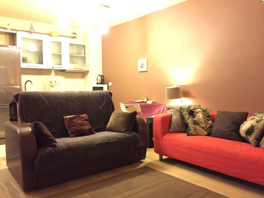 Cozy two-bedroom apartment center