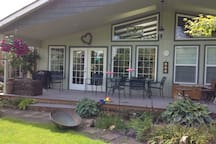 Or on the covered back deck
