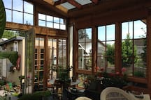 The solarium for breakfast or just sitting.