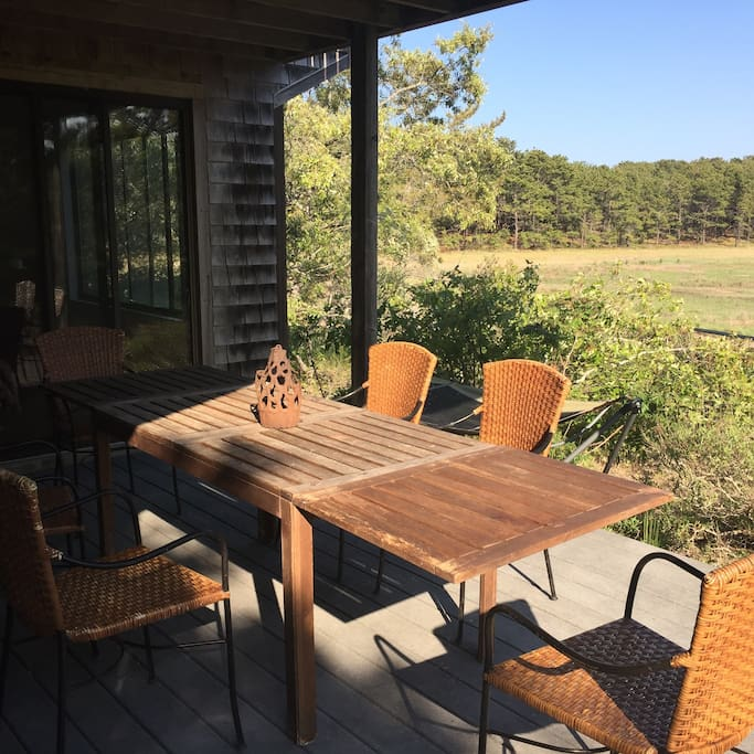 First-floor deck, view to salt marsh