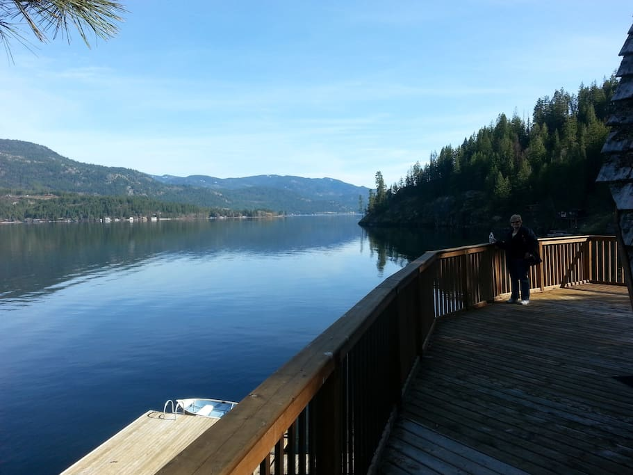 180 degree lake view from 700 square foot deck
