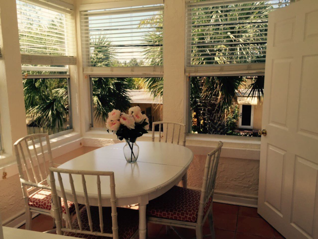 Dining area above your own private garden area