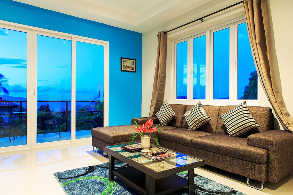 Sofa Area with sea view