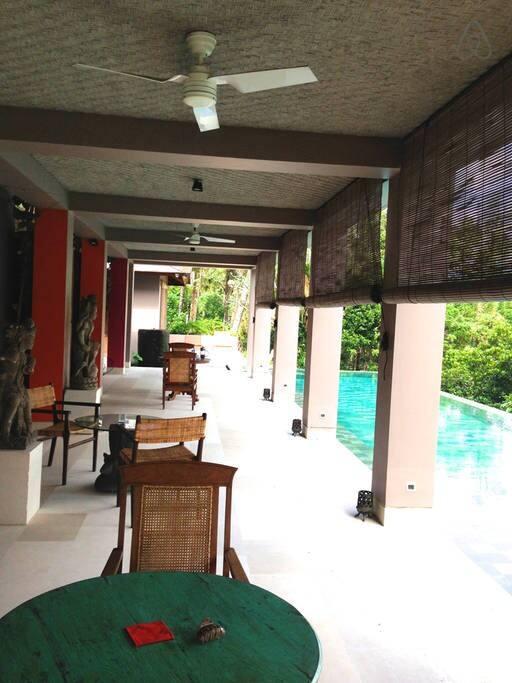 Pool side verandah