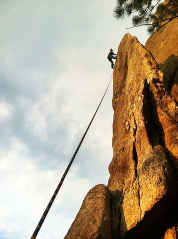 Climbing near Mt Rushmore