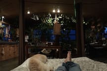 Panoramic view from the bed