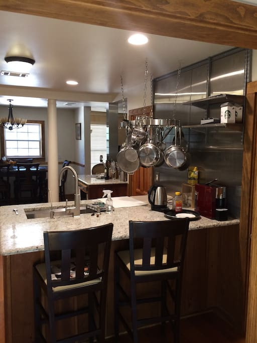 Newly renovated renovated kitchen with top of the line stainless steel appliances...great for entertaining