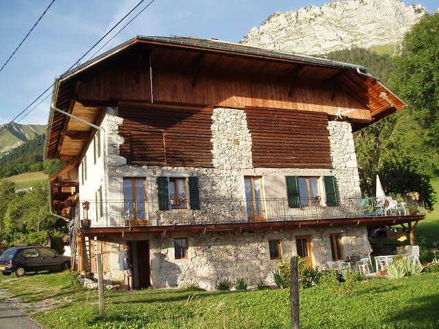 Magnifique maison de pierre rénovée - Montmin - Apartemen