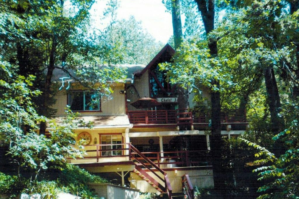 Barefoot Mountain Retreat fully decorated lower apartment with private entry and two lounging decks....... App