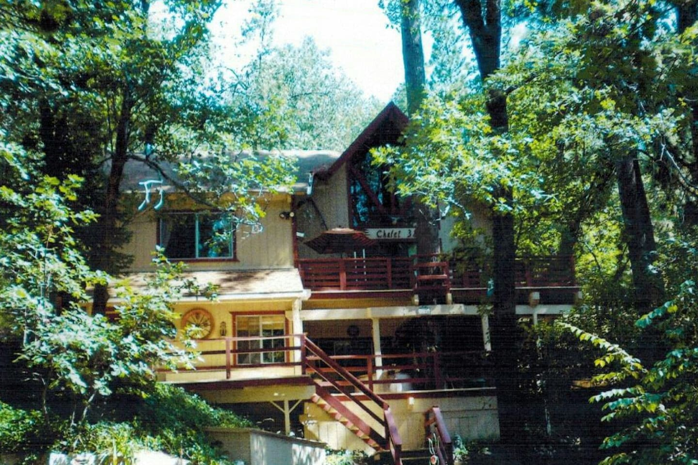Barefoot Mountain Retreat fully decorated lower apartment with private entry and two lounging decks.......