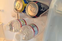 Thirsty?! Grab yourself a cold one from a variety of complimentary refreshments.