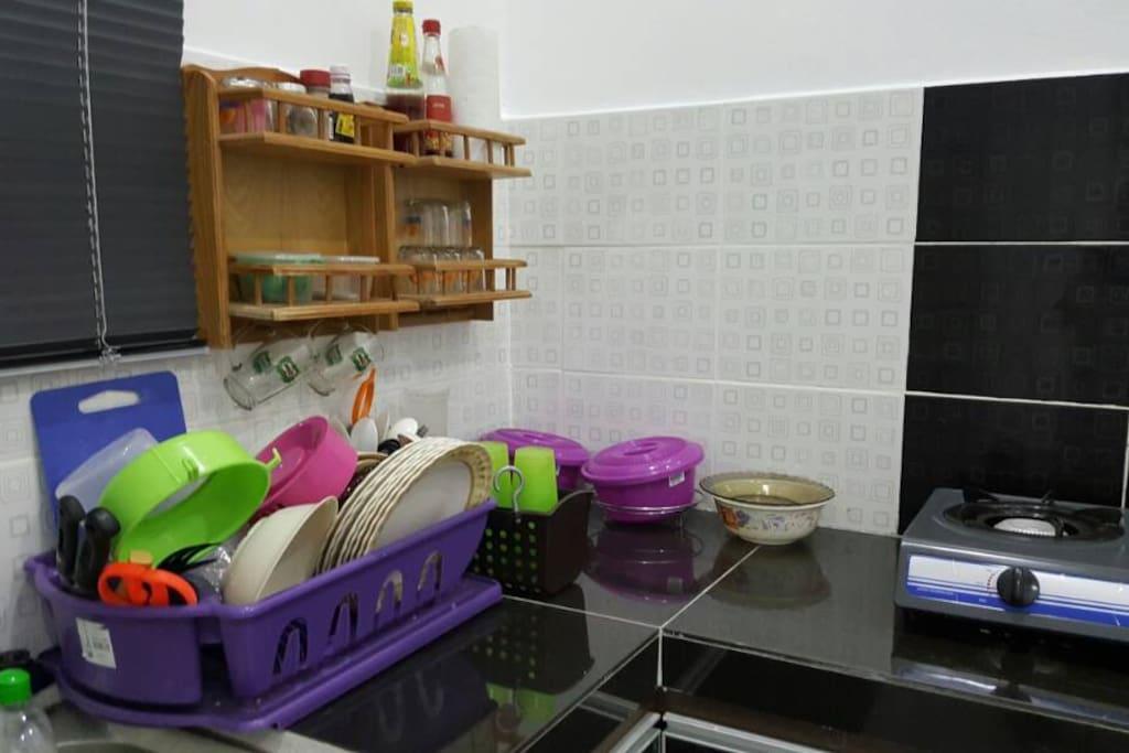 Dapur dengan kemudahan memasak