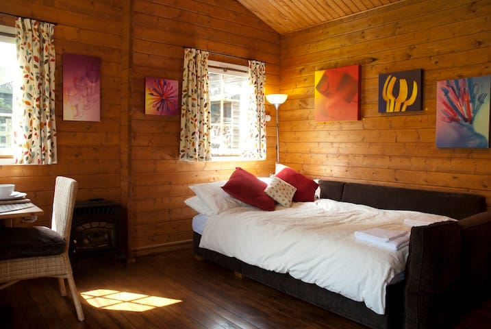 ArtHouse Log Cabin Bed & Breakfast - Wing - Houten huisje