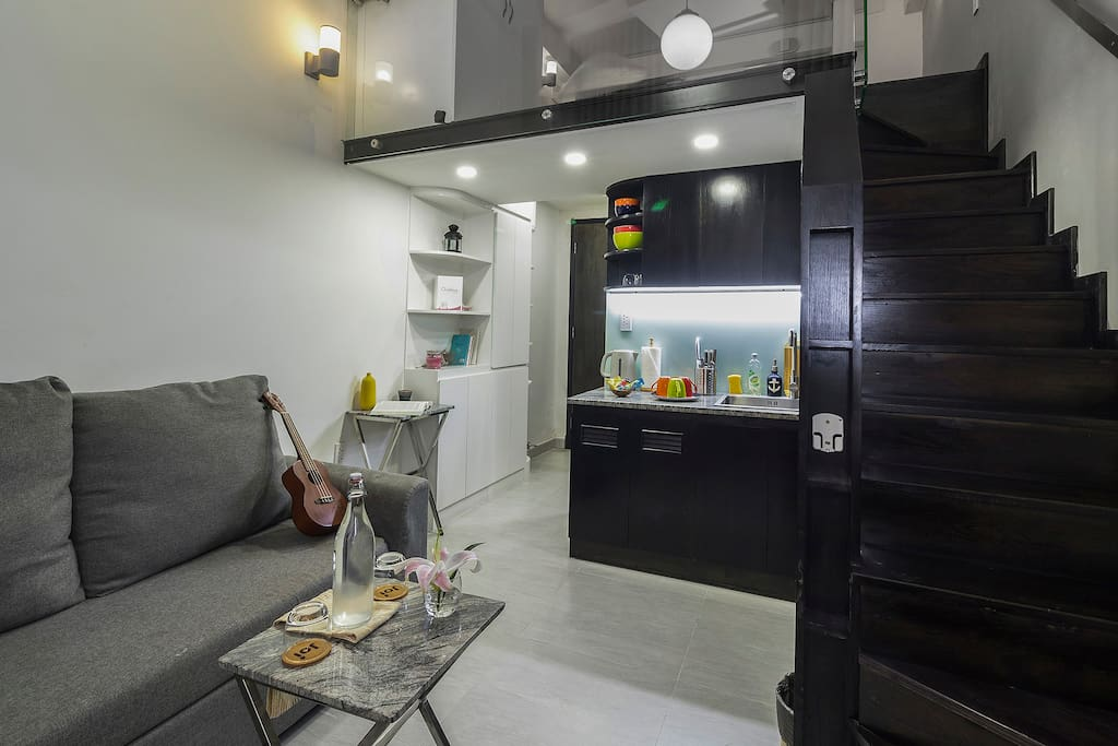 Stylish loft with all you need for a short getaway :)