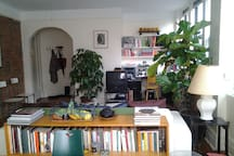 a view of living room for terrace