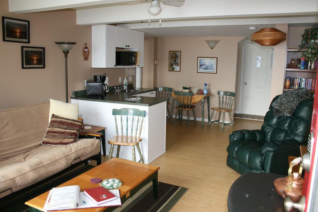 Oceanfront Suite kitchen/living area