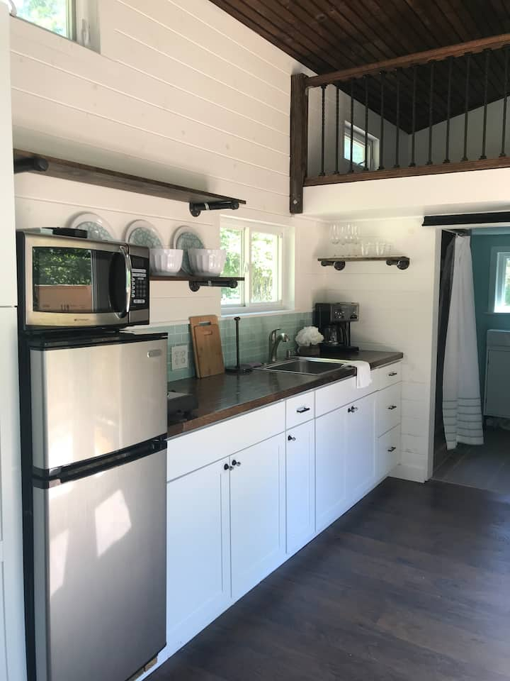Enjoy tranquility in an authentic tiny house!