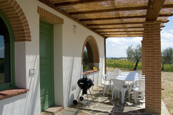 Detached house with private pool and shallow children's section near Cortona